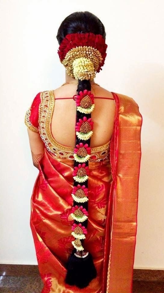 79 Best South Indian Bridal Hairstyle Images On Pinterest | Indian Inside Traditional Wedding Hairstyles (View 6 of 15)