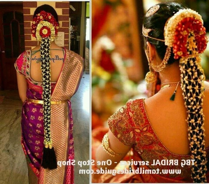 8 Best Bridal Images On Pinterest | South Indian Weddings, American Inside South Indian Tamil Bridal Wedding Hairstyles (View 7 of 15)