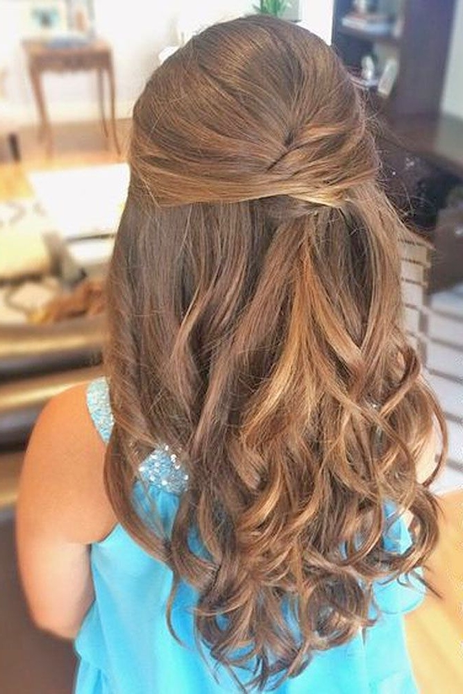 8 Best Flower Girl Hairstyles Images On Pinterest | Flower Girl Intended For Wedding Hairstyles For Teenage Bridesmaids (View 7 of 15)