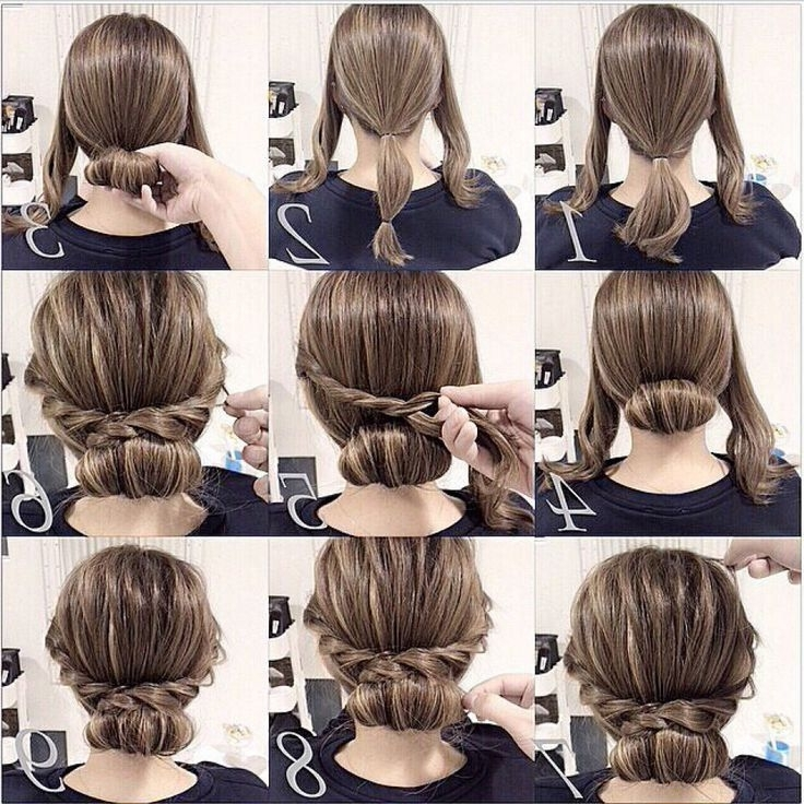 8 Best Frisuren Images On Pinterest | Hairstyle Ideas, Braided Buns With Regard To Easy Bridal Hairstyles For Short Hair (Gallery 5 of 15)