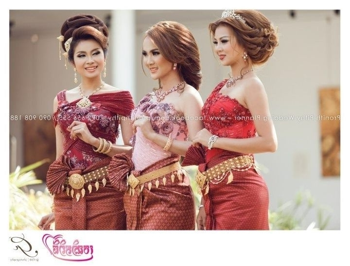8 Best Khmer Wedding Images On Pinterest | Khmer Wedding, Cambodian With Khmer Wedding Hairstyles (Gallery 2 of 15)