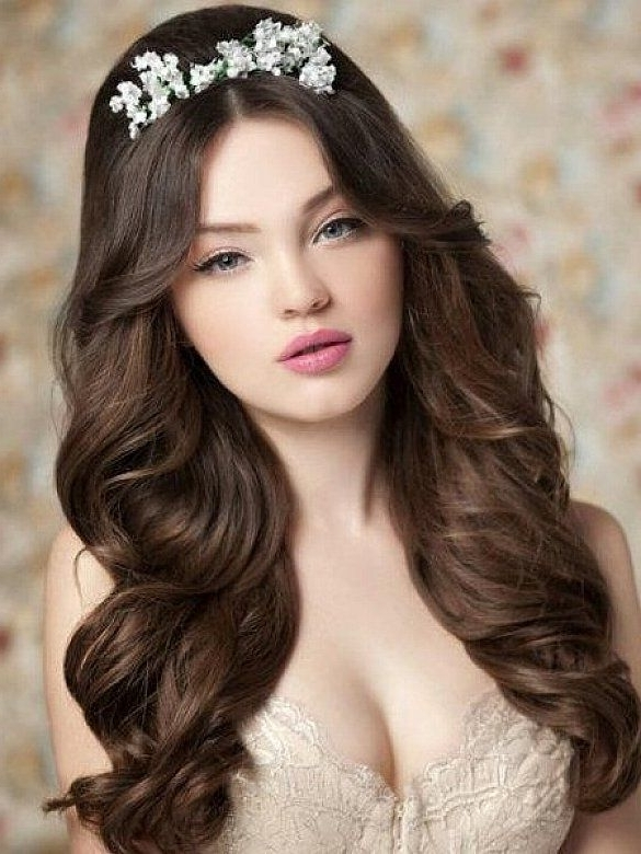 8 Best Wedding Hairstyles For Long Hair Images On Pinterest | Braids With Wedding Hairstyles For Long Wavy Hair (View 3 of 15)