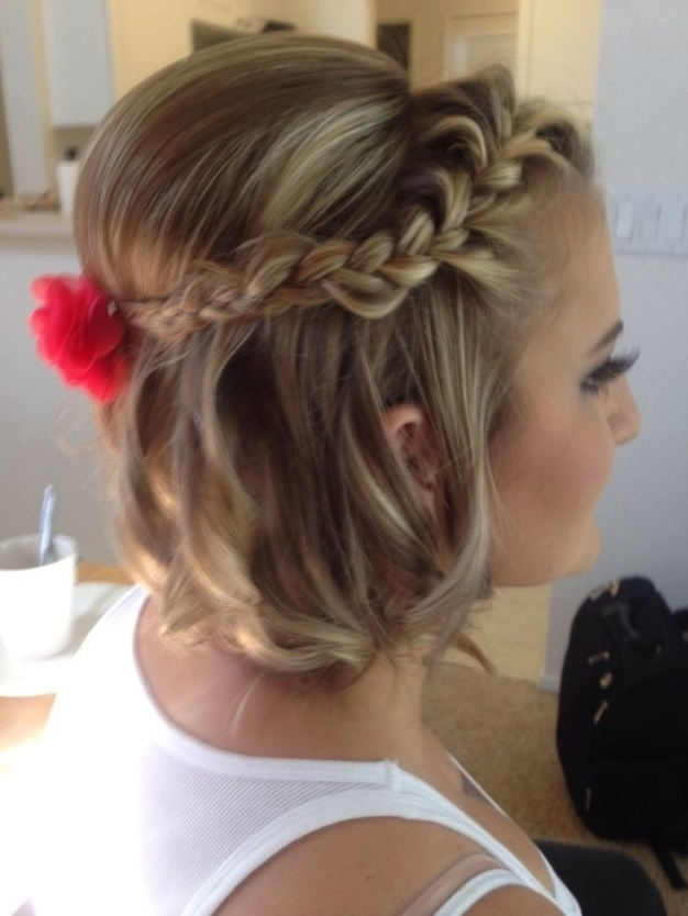 8 Cute Updo Hairstyles For Short Hair – Popular Haircuts Pertaining Within Quick Wedding Hairstyles For Short Hair (Gallery 14 of 15)