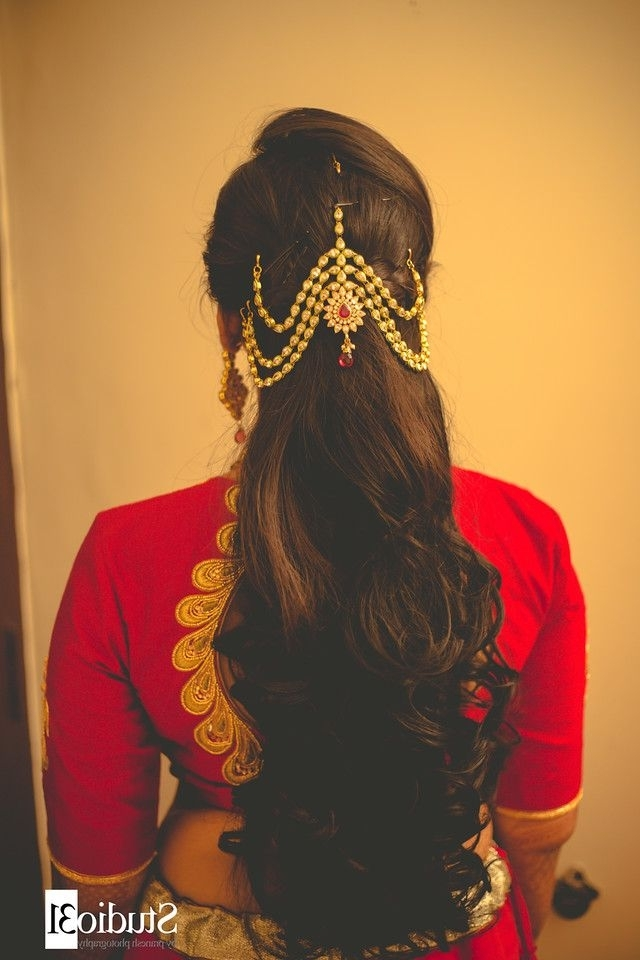 812 Best Wedding Outfits Images On Pinterest | Bride, Indian Bridal In Hindu Wedding Hairstyles For Long Hair (Gallery 6 of 15)