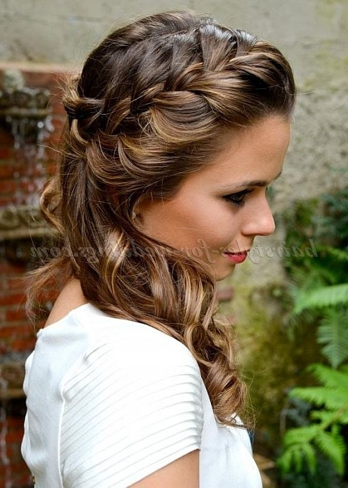 86 Best Hair Images On Pinterest | Curls, Make Up And Wedding Hair Inside Summer Wedding Hairstyles For Bridesmaids (Gallery 5 of 15)