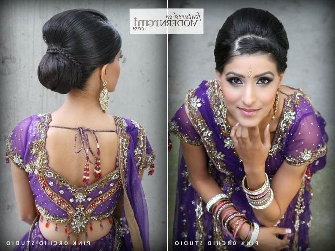 87 Best Bride Kondai Images On Pinterest | Hair Dos, Hairstyle Ideas Regarding North Indian Wedding Hairstyles For Long Hair (Gallery 6 of 15)