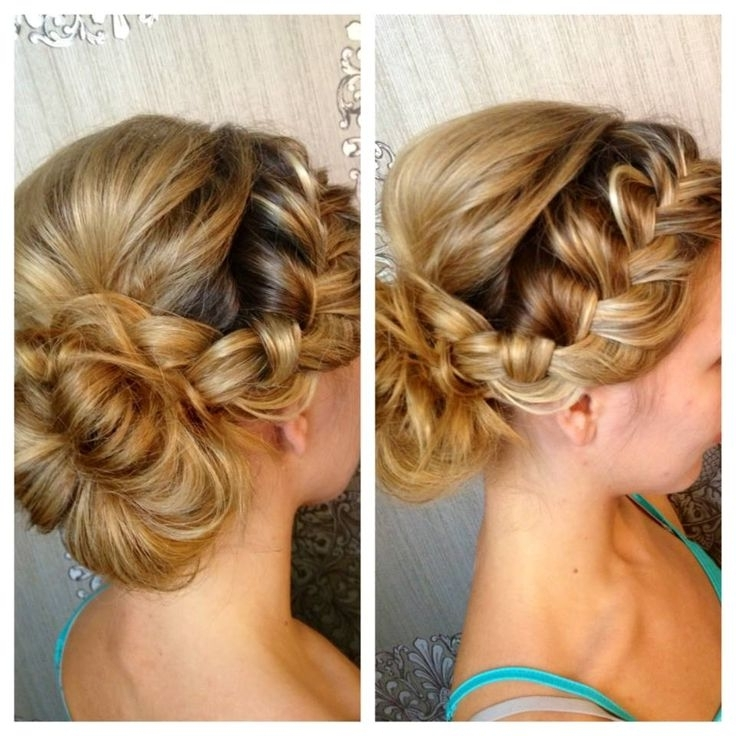 87 Best Peinados Images On Pinterest | Bridal Hairstyles, Long Hair Pertaining To Plaits Bun Wedding Hairstyles (View 3 of 15)
