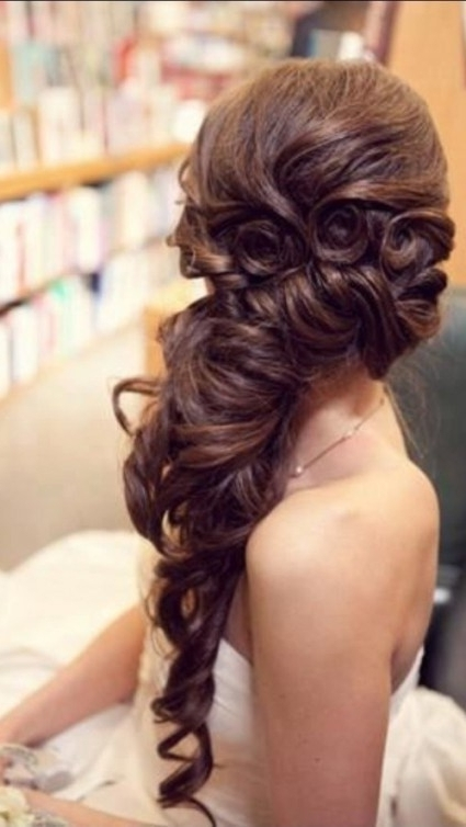 9 Beautiful Wedding Hairstyles Long Thick Hair | Hairstyles 2018 Regarding Wedding Hairstyles For Thick Hair (View 5 of 15)