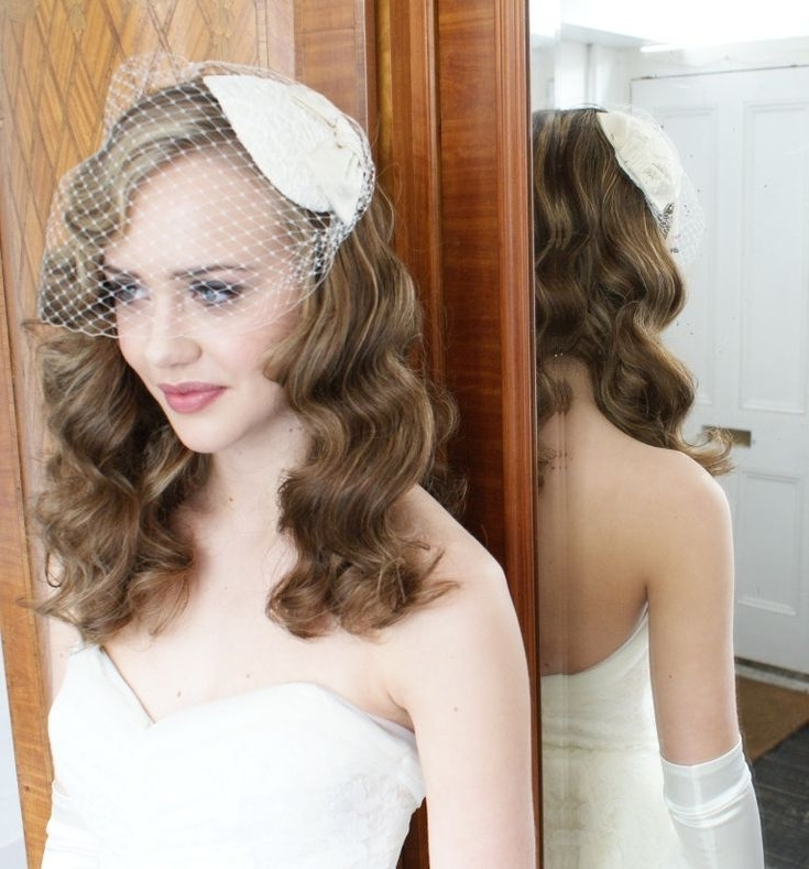 9 Best Long Hair/birdcage Veil Images On Pinterest | Bridal Within Wedding Hairstyles For Long Hair With Birdcage Veil (View 3 of 15)