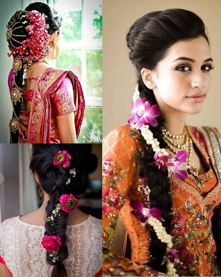 9 Best South Indian Bridal Hairstyles For Wedding Reception Images Regarding North Indian Wedding Hairstyles For Long Hair (View 5 of 15)