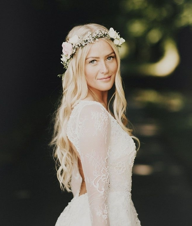 9 Boho Hairstyles For Summer Brides — Wedpics Blog Inside Middle Part Wedding Hairstyles (View 7 of 15)