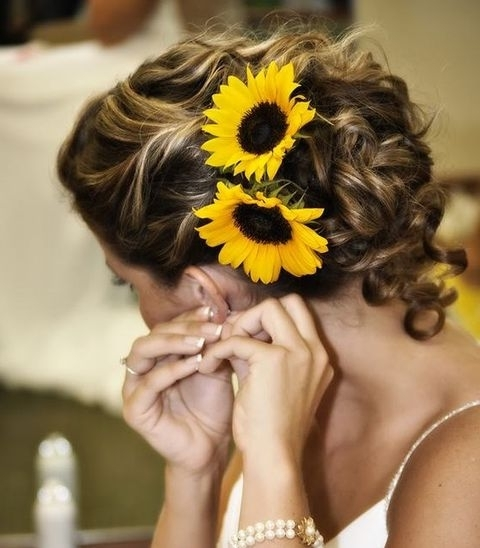 90 Cheerful And Bright Sunflower Wedding Ideas | Happywedd With Regard To Wedding Hairstyles With Sunflowers (View 13 of 15)