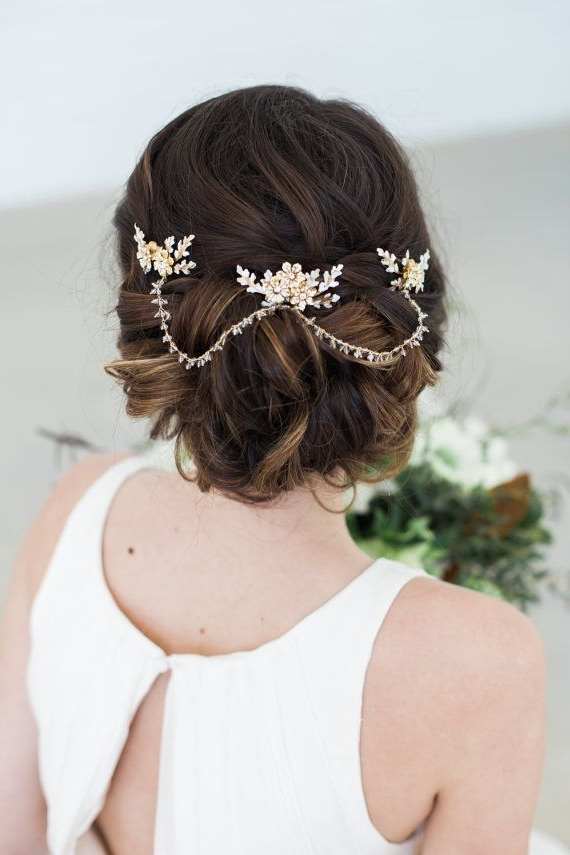 95 Best Bridal Hair Accessories Images On Pinterest | Bridal For Wedding Hairstyles With Jewels (View 10 of 15)