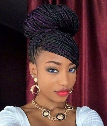 96 Best Box Braids Updo Hairstyles Images On Pinterest | Box Braids Pertaining To Box Braids Wedding Hairstyles (View 4 of 15)
