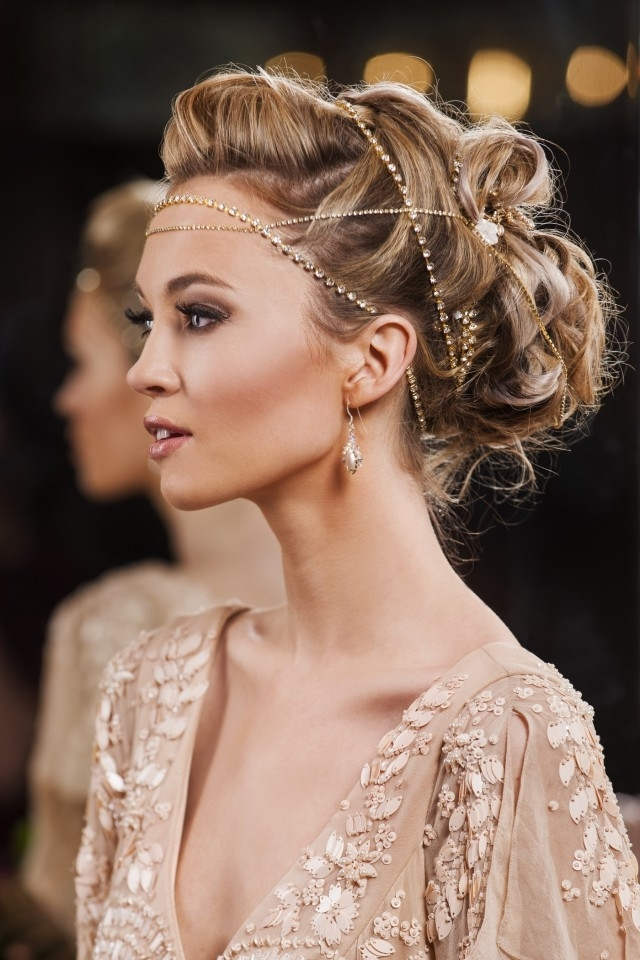 A Collection Of Modern And Marvelous Bridal Hair Accessoriesann Regarding Wedding Hairstyles With Accessories (View 14 of 15)
