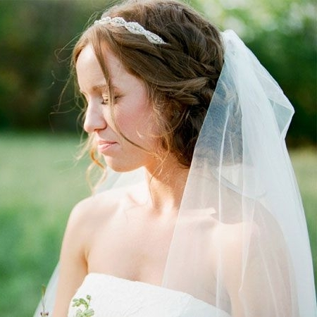 A Wedding Hairstyle That Works Well With A Veil | Rustic Wedding Regarding Wedding Hairstyles With Headband And Veil (View 10 of 15)
