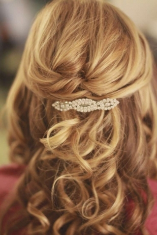 Featured Photo of Half Up Half Down Wedding Hairstyles For Medium Length Hair With Fringe