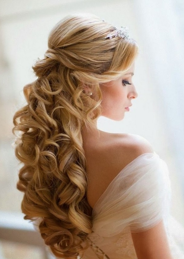 Adorable Wedding Hairstyles Long Hair On Wedding Hairstyles Long Intended For Wedding Hairstyles For Long Hair Half Up With Veil (View 8 of 15)