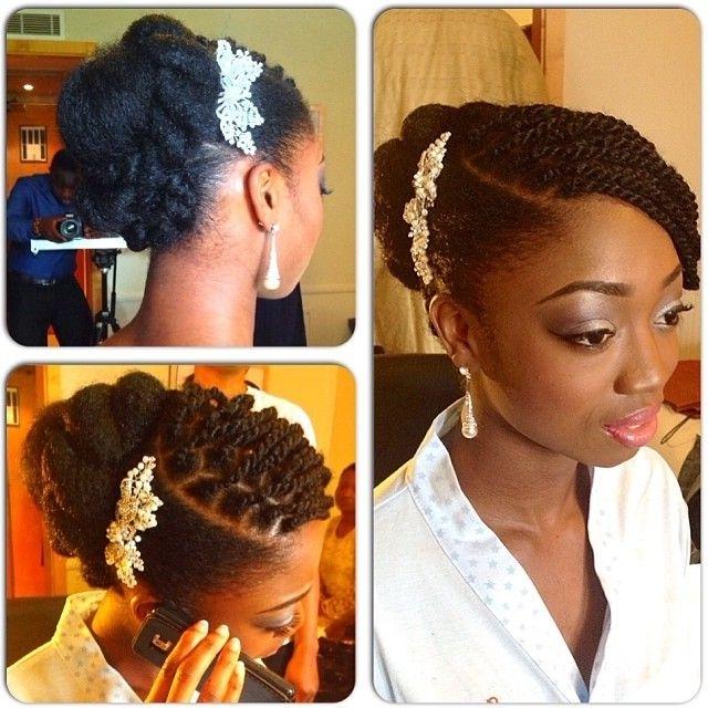 African American. Black Bride. Wedding Hair (View 6 of 15)
