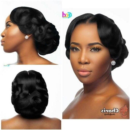 African American Wedding Hair Style | Zambian Weddings & Kitchen Pertaining To Updos African American Wedding Hairstyles (View 6 of 15)