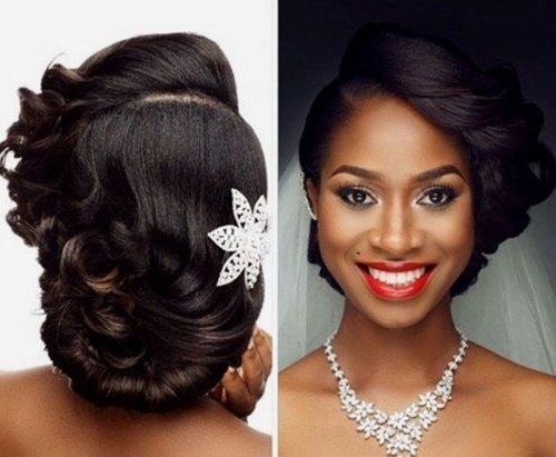African American Wedding Hairstyles For Medium Length Hair | African In African American Wedding Hairstyles For Medium Length Hair (View 6 of 15)