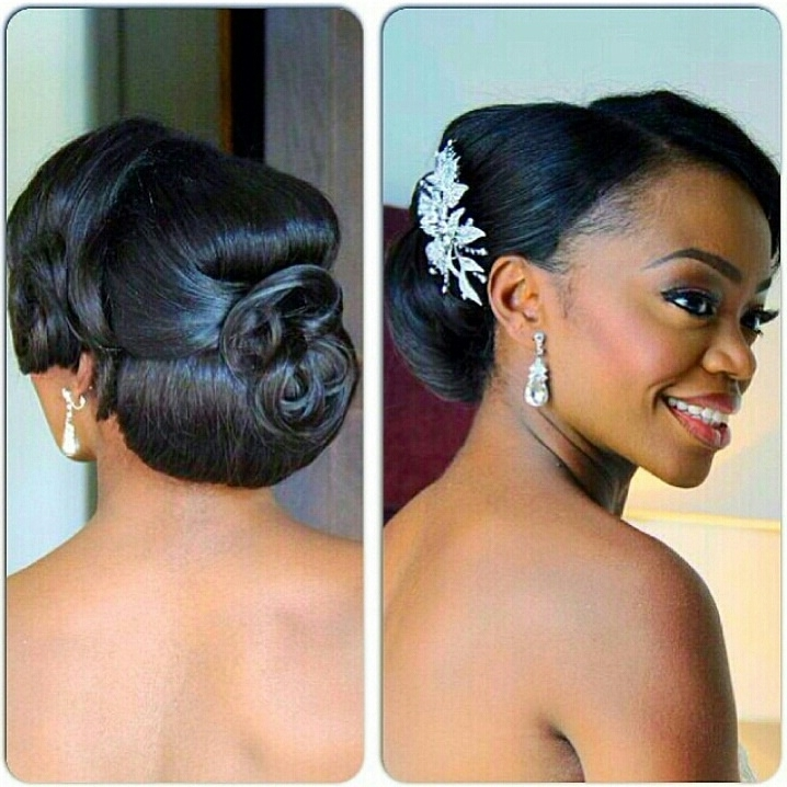 African Canadian Wedding Hair Inspiration: 20 Gorgeous Bridal Inside African Wedding Hairstyles (View 9 of 15)