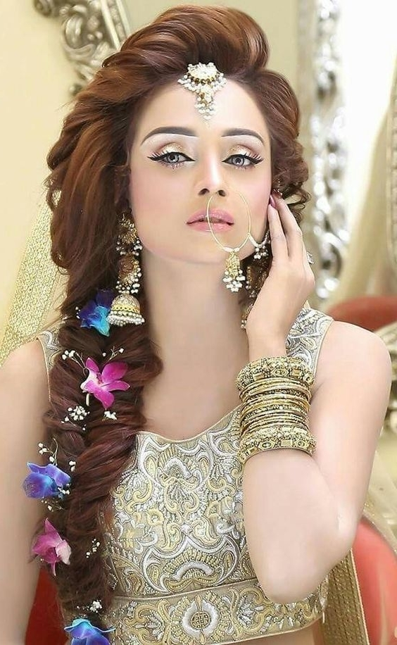 Amazing And Trendy Wedding Hairstyles For Pakistani Brides – Best In Pakistani Wedding Hairstyles (View 14 of 15)