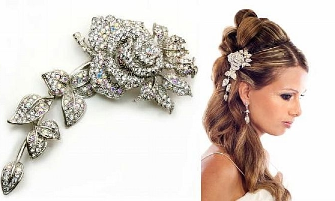 Amazing Wedding Hair Jewel Collection | Nationtrendz Pertaining To Wedding Hairstyles With Jewelry (View 11 of 15)