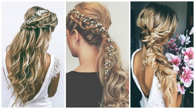 Amazing Wedding Hairstyles For Long Hair In Wedding Hairstyles For Long Boho Hair (View 8 of 15)