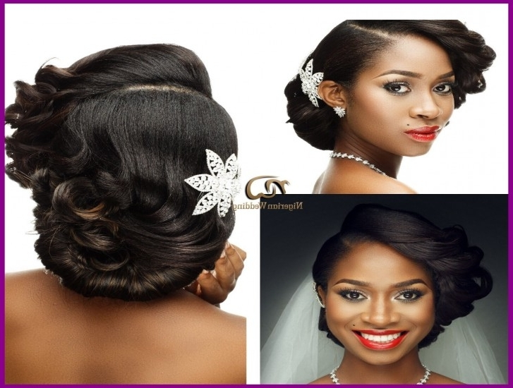 Appealing Nigerian Wedding Presents Gorgeous Bridal Hair U Makeup With Wedding Hairstyles For Nigerian Brides (View 2 of 15)