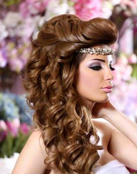 Arab Wedding Hairstyles Lovely Arabic Bridal Hairstyles Bridal Throughout Arabic Wedding Hairstyles (View 3 of 15)