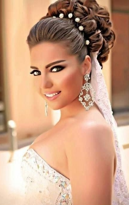 Arabic Hairstyles For Weddings Best Of 40 Chic Wedding Hair Updos In Arabic Wedding Hairstyles (View 4 of 15)