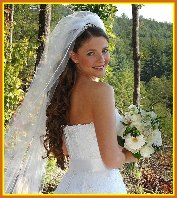 Astonishing Wedding Hair Down With Veil Ideas And For Hairstyles Pertaining To Wedding Hairstyles With Veil And Tiara (View 5 of 15)