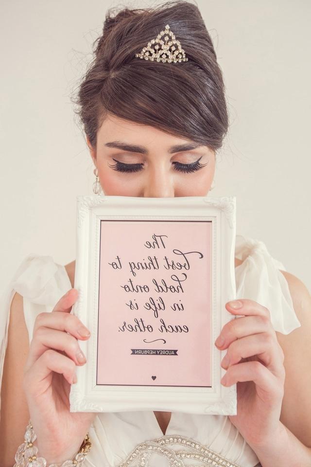 Audrey Hepburn Wedding Inspiration – 2 Love Birds Intended For Audrey Hepburn Wedding Hairstyles (View 7 of 15)