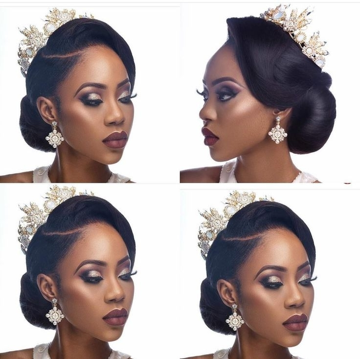 Awesome Black Hairstyles Updos For Wedding Contemporary – Styles Regarding Ebony Wedding Hairstyles (View 6 of 15)