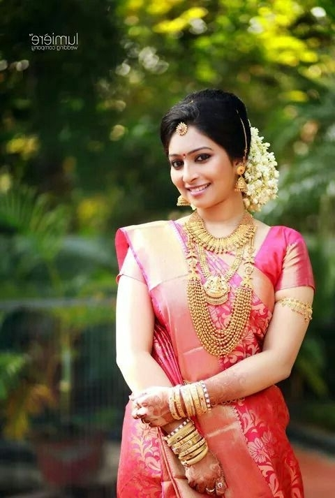 Awesome Bridal Hairstyles For Long Hair Kerala For Aspiration – Www With Kerala Wedding Hairstyles For Long Hair (View 4 of 15)