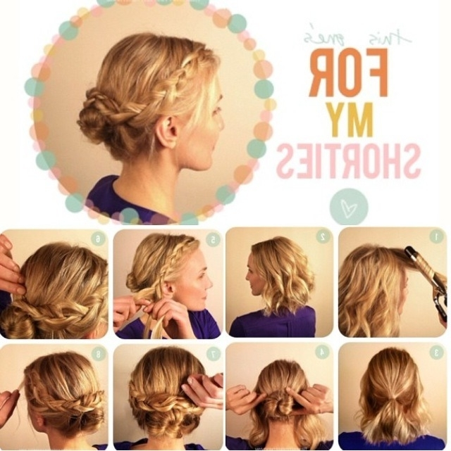 Awesome Diy Hairstyles For Short Hair Contemporary Styles Easy Buns In Easy Bridal Hairstyles For Short Hair (View 3 of 15)