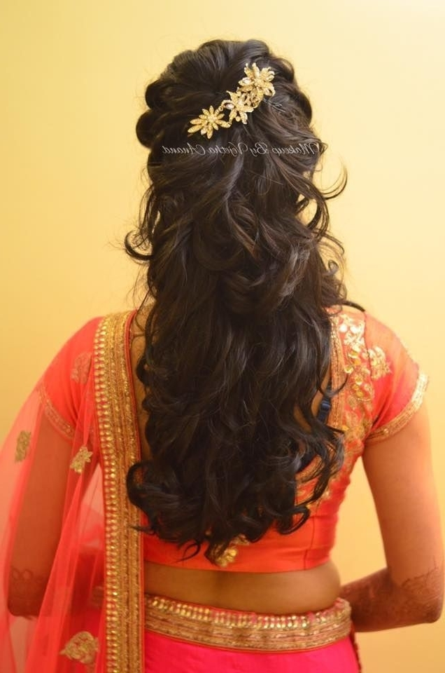 Awesome Indian Wedding Reception Hairstyles For Long Hair Pertaining To Wedding Reception Hairstyles For Long Hair (View 5 of 15)