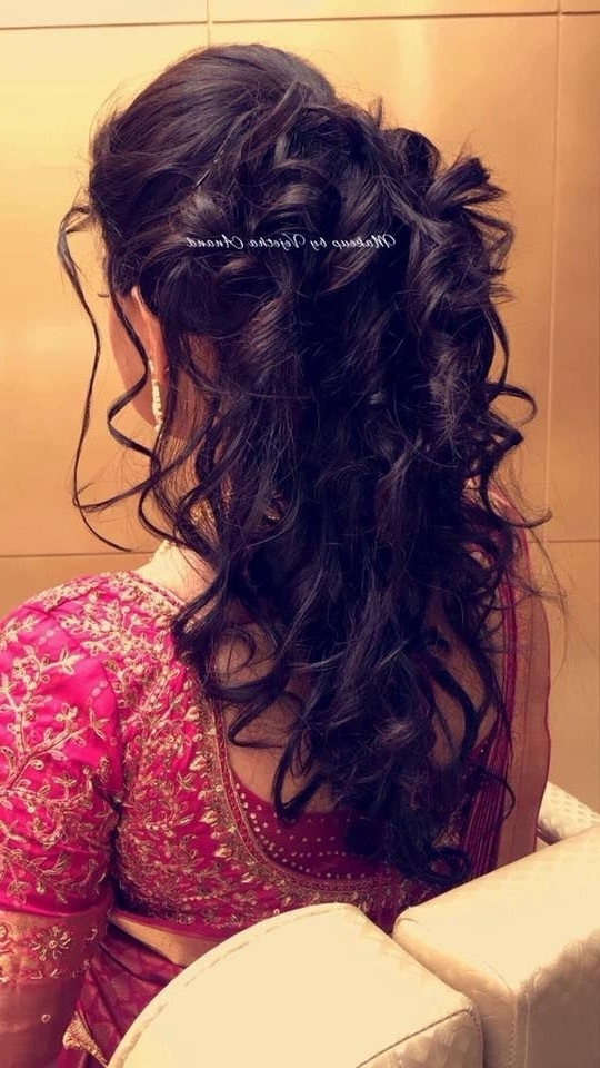 Awesome Indian Wedding Reception Hairstyles For Long Hair With Wedding Reception Hairstyles For Guests (View 13 of 15)