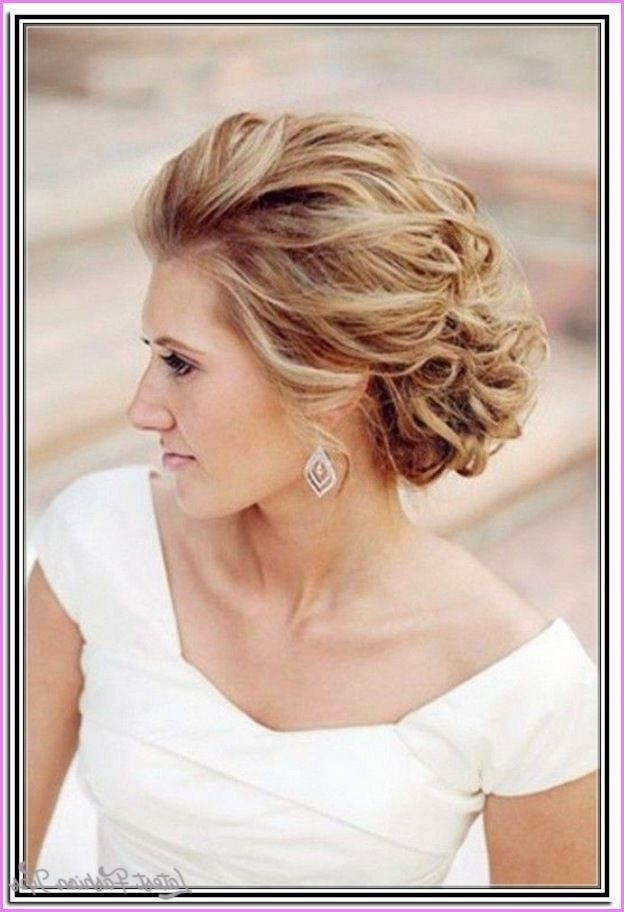 Awesome Shoulder Length Hairstyles For Weddings | Latestfashiontips For Wedding Hairstyles For Medium Length With Blonde Hair (View 5 of 15)