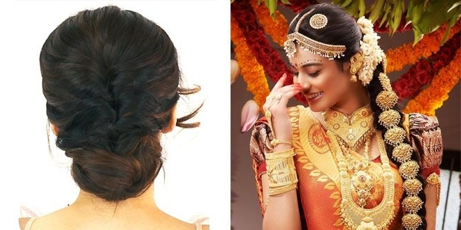 Awesome Unique Hairstyle Ideas Appropriate For Kerala Wedding Sarees Intended For Wedding Hairstyles For Kerala Christian Brides (View 11 of 15)