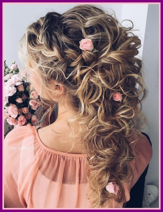 Awesome Wedding Hair For Long Curly Updos Half Up Pics Ideas And For Hair Half Up Half Down Wedding Hairstyles Long Curly (View 7 of 15)