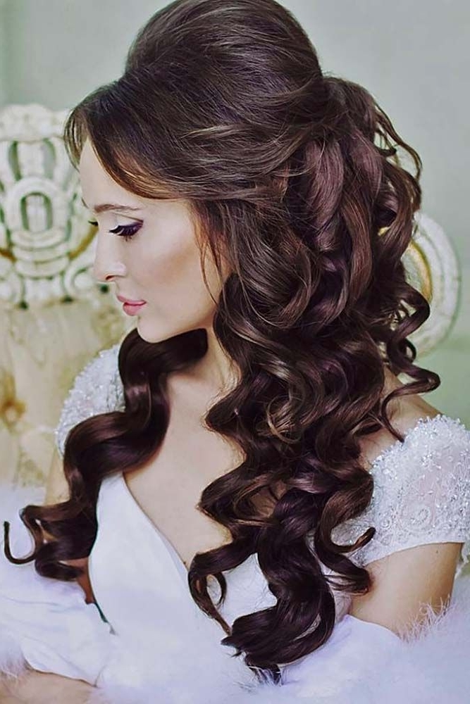 Awesome Wedding Hairstyles With Bangs | Diy Hairdos, Wedding With Wedding Engagement Hairstyles (View 3 of 15)