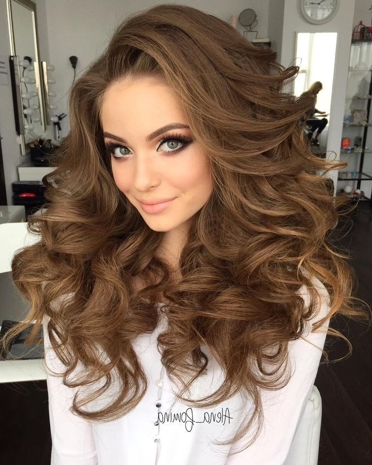 B??ut?ful Big Curls Hairstyles – Hair Style Connections | Hair Style Pertaining To Big Curls Wedding Hairstyles (View 3 of 15)