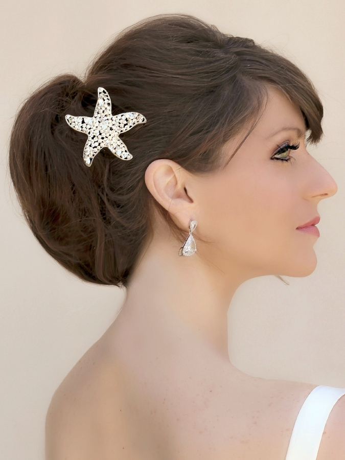Beach Wedding Hair Styles | Bridal Hair | Hawaiian Wedding Hair Style Throughout Wedding Hairstyles With Jewelry (View 14 of 15)