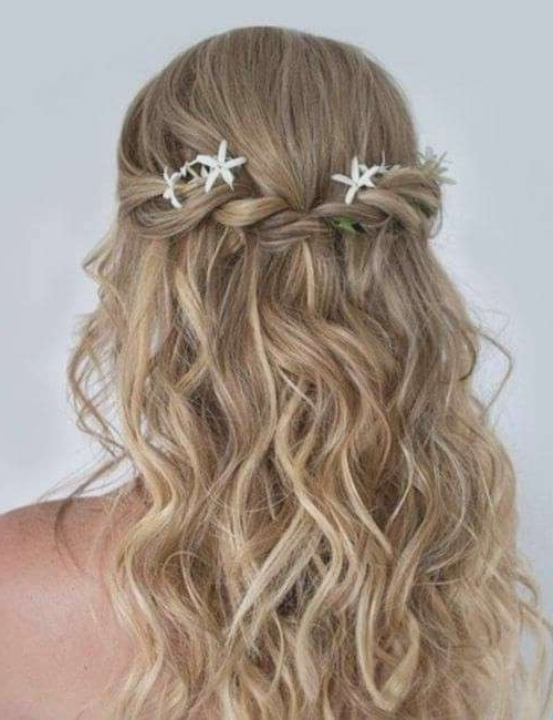 Beach Wedding Hairstyles For Long Hair Inspirational 50 Bridesmaid Within Beach Wedding Hair For Bridesmaids (View 7 of 15)