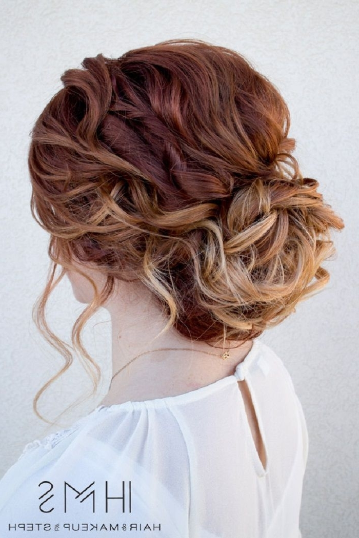 Beautiful And Creative Updo For Curly Hair – This Stunning Updos Regarding Wedding Hairstyles For Medium Length Curly Hair (View 8 of 15)