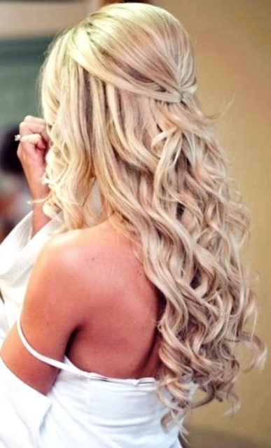 Beautiful Blonde Half Up Long Down Curls Bridal Hair Ideas Toni Kami Intended For Wedding Hairstyles For Blonde (View 7 of 15)