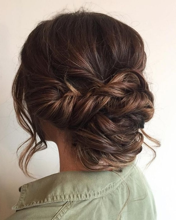 Beautiful Braid Updo Wedding Hairstyle For Romantic Brides | Low In Low Updo Wedding Hairstyles (View 12 of 15)