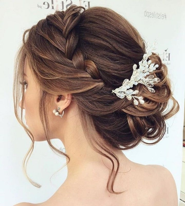 Beautiful Braided Updos Wedding Hairstyle To Inspire You | Pinterest With Regard To Updo Wedding Hairstyles For Long Hair (View 7 of 15)